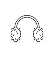 knitted headphones line icon concept knitted vector image