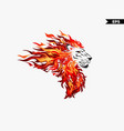 lion head fire vector image vector image