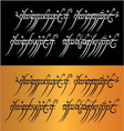 lord rings mantra vector image vector image