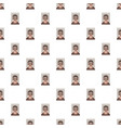 man arrested photo in police pattern vector image