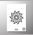 minimal geometric shape design for printing vector image vector image