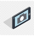mobile camera isometric icon vector image vector image