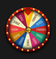 modern fortune wheel on black background vector image