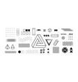 modern geometric shapes collection vector image vector image