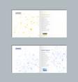 molecule structure brochure vector image vector image