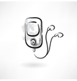 mp3 player grunge icon vector image vector image