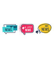 news badges daily hot latest and breaking news vector image