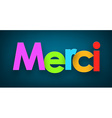 Paper merci sign vector image vector image