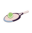 racket with ball tennis isolated icon vector image vector image