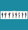 set businessman character vector image