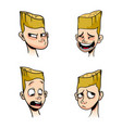 set of emotions of a blonde boy vector image vector image
