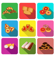 set of icons on a theme cookie vector image vector image