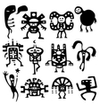 shamans and spirits design elements vector image vector image