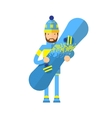 Smiling snowboarder man in winter ski sportswear vector image