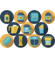 Sports nutrition flat icons collection vector image vector image
