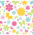 Spring butterflies and flowers seamless pattern vector image vector image
