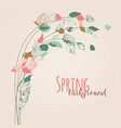 spring leafs floral buds nature seasonal vector image