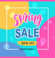 spring sale banner template background vector image
