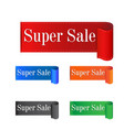 super sale sticker label on white background vector image vector image