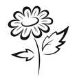 Symbolical Flower Black Pictogram vector image