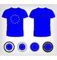 t-shirt with the flag of European Union vector image