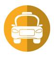 taxi car public vehicule shadow vector image vector image