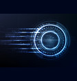 technological interface future system hud vector image vector image