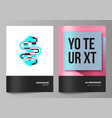 the of the two editable layout vector image vector image