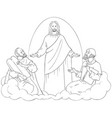 transfiguration jesus christ elijah moses coloring vector image