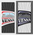 vertical layouts for vienna vector image vector image