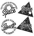 vintage space emblems vector image vector image