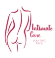 Woman intimate care silhouette vector image vector image