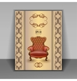 armchair luxury furniture item vector image