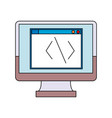 screen monitor computer coding programmer vector image