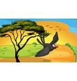 bird fly near tree vector image