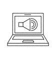 laptop audio speaker technology online vector image