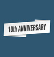 10th anniversary banner template anniversary