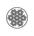 antahkarana mandala ancient symbol meditation vector image vector image