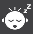 baby boy sleep solid icon child and infant vector image vector image