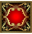 background with frame and royal golden vector image