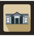 Bank building icon in flat style vector image vector image
