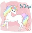 be unique unicorn cartoon vector image vector image