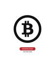 bitcoin icon vector image vector image