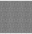 black and white waveform seamless pattern vector image vector image