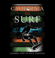 california beach- west coast - surfing vector image