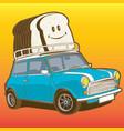 car mini bread vector image
