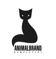 cat logo stylized simplified and isolated cute vector image vector image