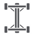 chassis glyph icon car and part auto shaft sign vector image vector image