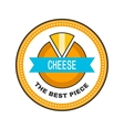 Cheese Label sticker logo for a food product vector image