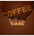 Coffee background trendy style vector image vector image